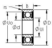 AST 6005-2RS roulements rigides à billes