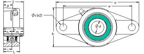 AST UCFL 216 unités de roulement