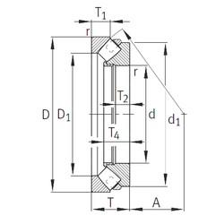 INA 292/1000-E1-MB roulements à rouleaux de poussée