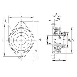 INA RCJT7/8 unités de roulement