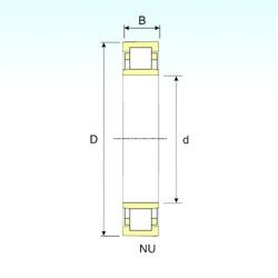 60 mm x 110 mm x 22 mm  ISB NU 212 roulements à rouleaux cylindriques