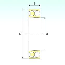 100 mm x 180 mm x 34 mm  ISB 1220 K roulements à billes auto-aligneurs