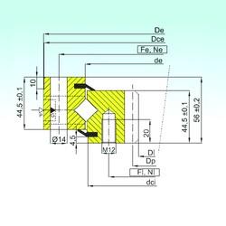 ISB ZR1.14.0844.200-1SPTN roulements à rouleaux de poussée