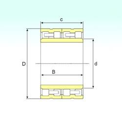 440 mm x 660 mm x 340 mm  ISB FC 88132340 roulements à rouleaux cylindriques