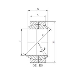 70 mm x 105 mm x 49 mm  ISO GE70DO-2RS paliers lisses