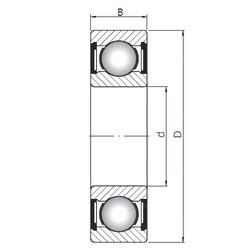 35 mm x 72 mm x 17 mm  ISO 6207 ZZ roulements rigides à billes