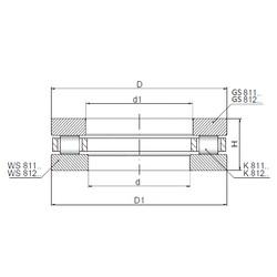 ISO 81244 roulements à rouleaux de poussée