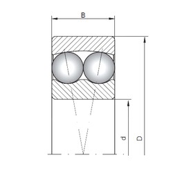 65 mm x 140 mm x 48 mm  ISO 2313 roulements à billes auto-aligneurs