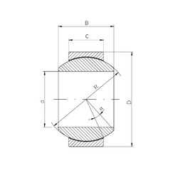 80 mm x 130 mm x 75 mm  ISO GE 080 HCR-2RS paliers lisses