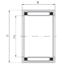 ISO HK2508 roulements à rouleaux cylindriques