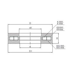 ISO 89422 roulements à rouleaux de poussée