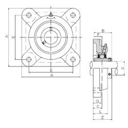 ISO UCF313 unités de roulement