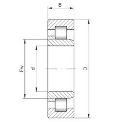 100 mm x 215 mm x 47 mm  ISO NJ320 roulements à rouleaux cylindriques