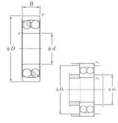 10 mm x 30 mm x 14 mm  KOYO 2200 roulements à billes auto-aligneurs