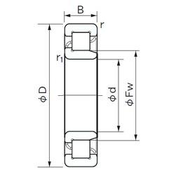 50 mm x 90 mm x 20 mm  NACHI NJ 210 roulements à rouleaux cylindriques
