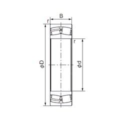 300 mm x 500 mm x 160 mm  NACHI 23160E roulements à rouleaux cylindriques