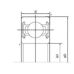 17 mm x 47 mm x 14 mm  NACHI 6303-2NSE roulements rigides à billes