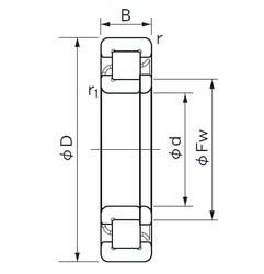 80 mm x 140 mm x 26 mm  NACHI NUP 216 roulements à rouleaux cylindriques