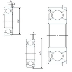 35 mm x 55 mm x 10 mm  NACHI 6907ZENR roulements rigides à billes