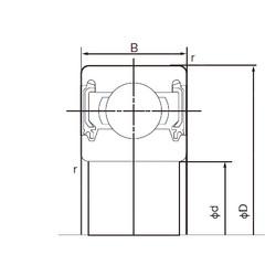 12 mm x 24 mm x 6 mm  NACHI 6901-2NKE roulements rigides à billes