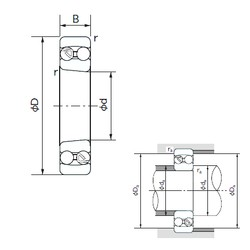 55 mm x 120 mm x 43 mm  NACHI 2311K roulements à billes auto-aligneurs