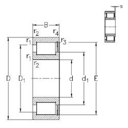 710 mm x 870 mm x 74 mm  NKE NCF18/710-V roulements à rouleaux cylindriques
