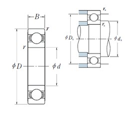 420 mm x 560 mm x 65 mm  NSK 6984 roulements rigides à billes