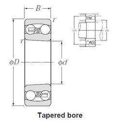 55 mm x 100 mm x 25 mm  NTN 2211SK roulements à billes auto-aligneurs