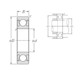 35 mm x 55 mm x 10 mm  NTN 6907ZZ roulements rigides à billes