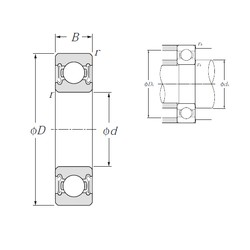 70 mm x 150 mm x 35 mm  NTN 6314LLB roulements rigides à billes
