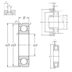 110 mm x 240 mm x 50 mm  NTN 6322NR roulements rigides à billes
