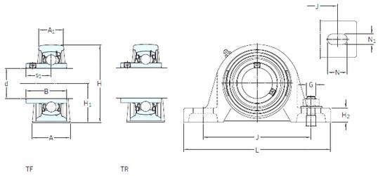SKF SY 1.1/16 TF unités de roulement
