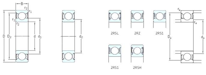 9 mm x 24 mm x 7 mm  SKF 609-Z roulements rigides à billes