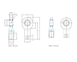 SKF SI70TXE-2LS paliers lisses
