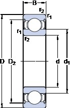 40 mm x 68 mm x 15 mm  SKF W 6008-2Z roulements rigides à billes