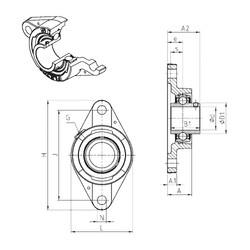 SNR UCFLE214 unités de roulement