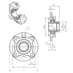 SNR EXFC206 unités de roulement