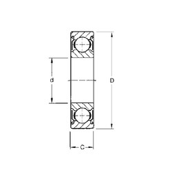 105 mm x 190 mm x 36 mm  CYSD 6221-ZZ roulements rigides à billes