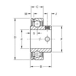 55,5625 mm x 100 mm x 46,6 mm  Timken GYA203RR roulements rigides à billes