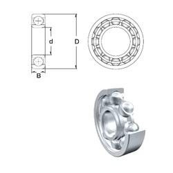 8 mm x 16 mm x 5 mm  ZEN S688-2RS roulements rigides à billes