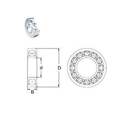 4,762 mm x 17,462 mm x 6,35 mm  ZEN S1601-2Z roulements rigides à billes