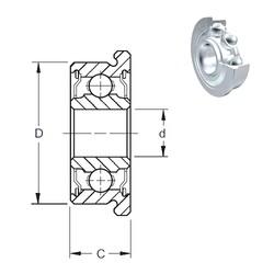 2 mm x 5 mm x 2,3 mm  ZEN F682-2Z roulements rigides à billes
