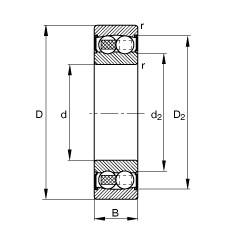 55 mm x 100 mm x 25 mm  FAG 2211-2RS-TVH roulements à billes auto-aligneurs