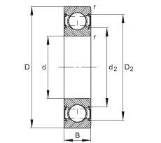 15 mm x 35 mm x 11 mm  FAG 6202-C-2HRS roulements rigides à billes