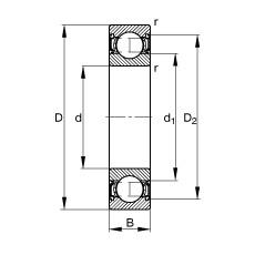 12 mm x 37 mm x 12 mm  FAG S6301-2RSR roulements rigides à billes