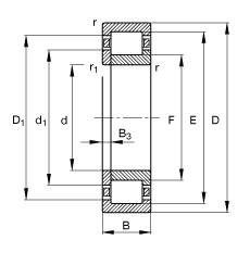 180 mm x 320 mm x 86 mm  FAG NUP2236-E-M1 roulements à rouleaux cylindriques
