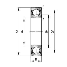 55 mm x 120 mm x 29 mm  FAG 6311-2Z roulements rigides à billes