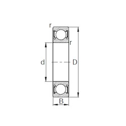 55 mm x 90 mm x 18 mm  CYSD 6011-2RS roulements rigides à billes