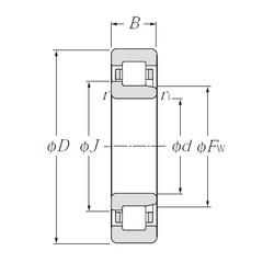 45 mm x 85 mm x 23 mm  NTN NJ2209E roulements à rouleaux cylindriques