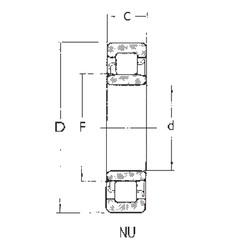 50 mm x 90 mm x 23 mm  FBJ NU2210 roulements à rouleaux cylindriques